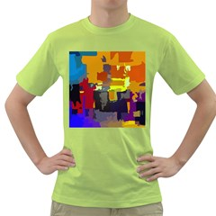 Abstract Vibrant Colour Green T Shirt