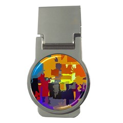 Abstract Vibrant Colour Money Clips (Round)