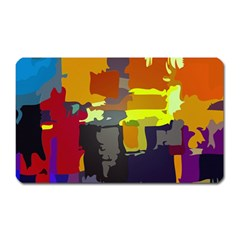 Abstract Vibrant Colour Magnet (Rectangular)