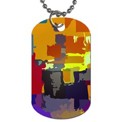 Abstract Vibrant Colour Dog Tag (two Sides)