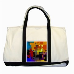 Abstract Vibrant Colour Two Tone Tote Bag