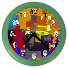 Abstract Vibrant Colour Color Wall Clocks