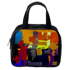 Abstract Vibrant Colour Classic Handbags (one Side)