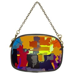 Abstract Vibrant Colour Chain Purses (two Sides)
