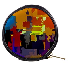 Abstract Vibrant Colour Mini Makeup Bags