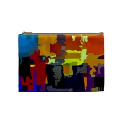 Abstract Vibrant Colour Cosmetic Bag (Medium)