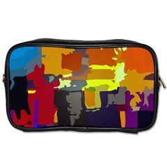 Abstract Vibrant Colour Toiletries Bags 2 Side