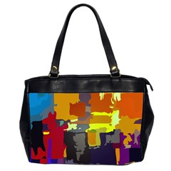 Abstract Vibrant Colour Office Handbags (2 Sides)
