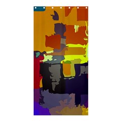Abstract Vibrant Colour Shower Curtain 36  X 72  (stall)