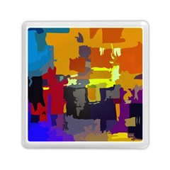 Abstract Vibrant Colour Memory Card Reader (Square)