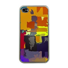 Abstract Vibrant Colour Apple Iphone 4 Case (clear)