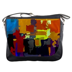 Abstract Vibrant Colour Messenger Bags