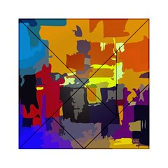 Abstract Vibrant Colour Acrylic Tangram Puzzle (6  X 6 )