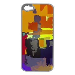 Abstract Vibrant Colour Apple Iphone 5 Case (silver)