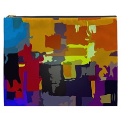 Abstract Vibrant Colour Cosmetic Bag (xxxl)