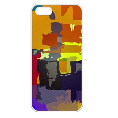 Abstract Vibrant Colour Apple iPhone 5 Seamless Case (White)