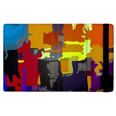 Abstract Vibrant Colour Apple iPad 3/4 Flip Case