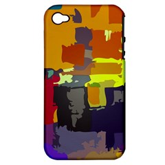 Abstract Vibrant Colour Apple Iphone 4/4s Hardshell Case (pc+silicone)