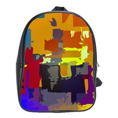 Abstract Vibrant Colour School Bags (XL)