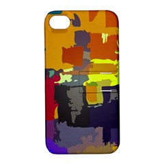 Abstract Vibrant Colour Apple Iphone 4/4s Hardshell Case With Stand