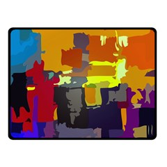 Abstract Vibrant Colour Double Sided Fleece Blanket (small)