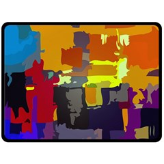 Abstract Vibrant Colour Double Sided Fleece Blanket (Large)