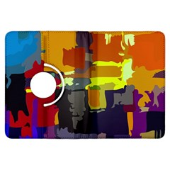 Abstract Vibrant Colour Kindle Fire HDX Flip 360 Case
