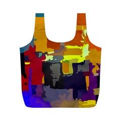Abstract Vibrant Colour Full Print Recycle Bags (m)
