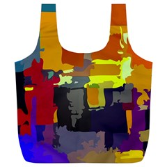 Abstract Vibrant Colour Full Print Recycle Bags (l)