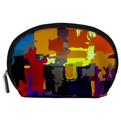 Abstract Vibrant Colour Accessory Pouches (large)