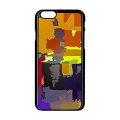 Abstract Vibrant Colour Apple iPhone 6/6S Black Enamel Case