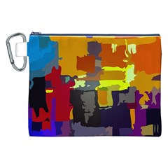 Abstract Vibrant Colour Canvas Cosmetic Bag (XXL)