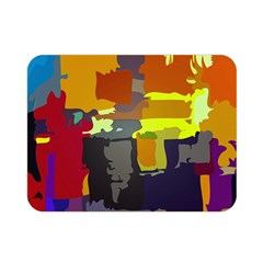 Abstract Vibrant Colour Double Sided Flano Blanket (mini)