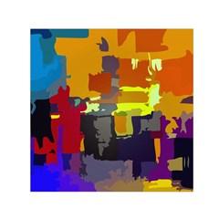 Abstract Vibrant Colour Small Satin Scarf (Square)