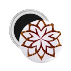 Abstract Shape Outline Floral Gold 2.25  Magnets