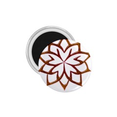 Abstract Shape Outline Floral Gold 1 75  Magnets
