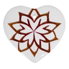 Abstract Shape Outline Floral Gold Ornament (heart)