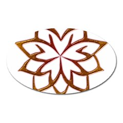 Abstract Shape Outline Floral Gold Oval Magnet
