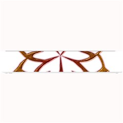 Abstract Shape Outline Floral Gold Small Bar Mats