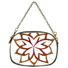 Abstract Shape Outline Floral Gold Chain Purses (one Side)