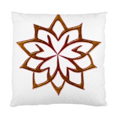 Abstract Shape Outline Floral Gold Standard Cushion Case (Two Sides)