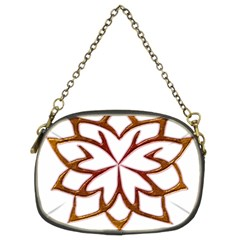 Abstract Shape Outline Floral Gold Chain Purses (two Sides)