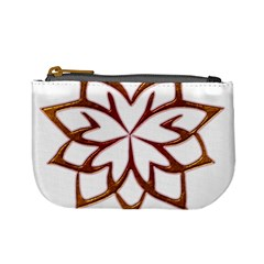 Abstract Shape Outline Floral Gold Mini Coin Purses