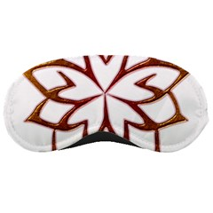 Abstract Shape Outline Floral Gold Sleeping Masks