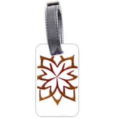 Abstract Shape Outline Floral Gold Luggage Tags (one Side)