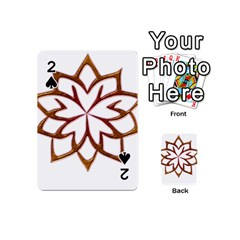 Abstract Shape Outline Floral Gold Playing Cards 54 (mini)
