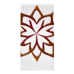Abstract Shape Outline Floral Gold Shower Curtain 36  x 72  (Stall)