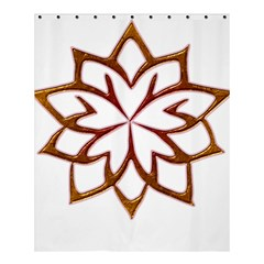 Abstract Shape Outline Floral Gold Shower Curtain 60  X 72  (medium)
