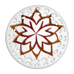 Abstract Shape Outline Floral Gold Ornament (round Filigree)