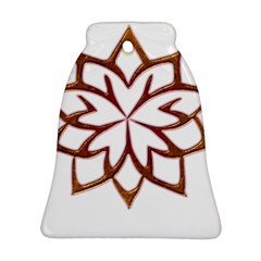 Abstract Shape Outline Floral Gold Ornament (bell)